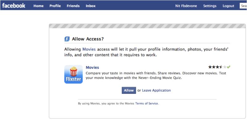 Facebook-authorization